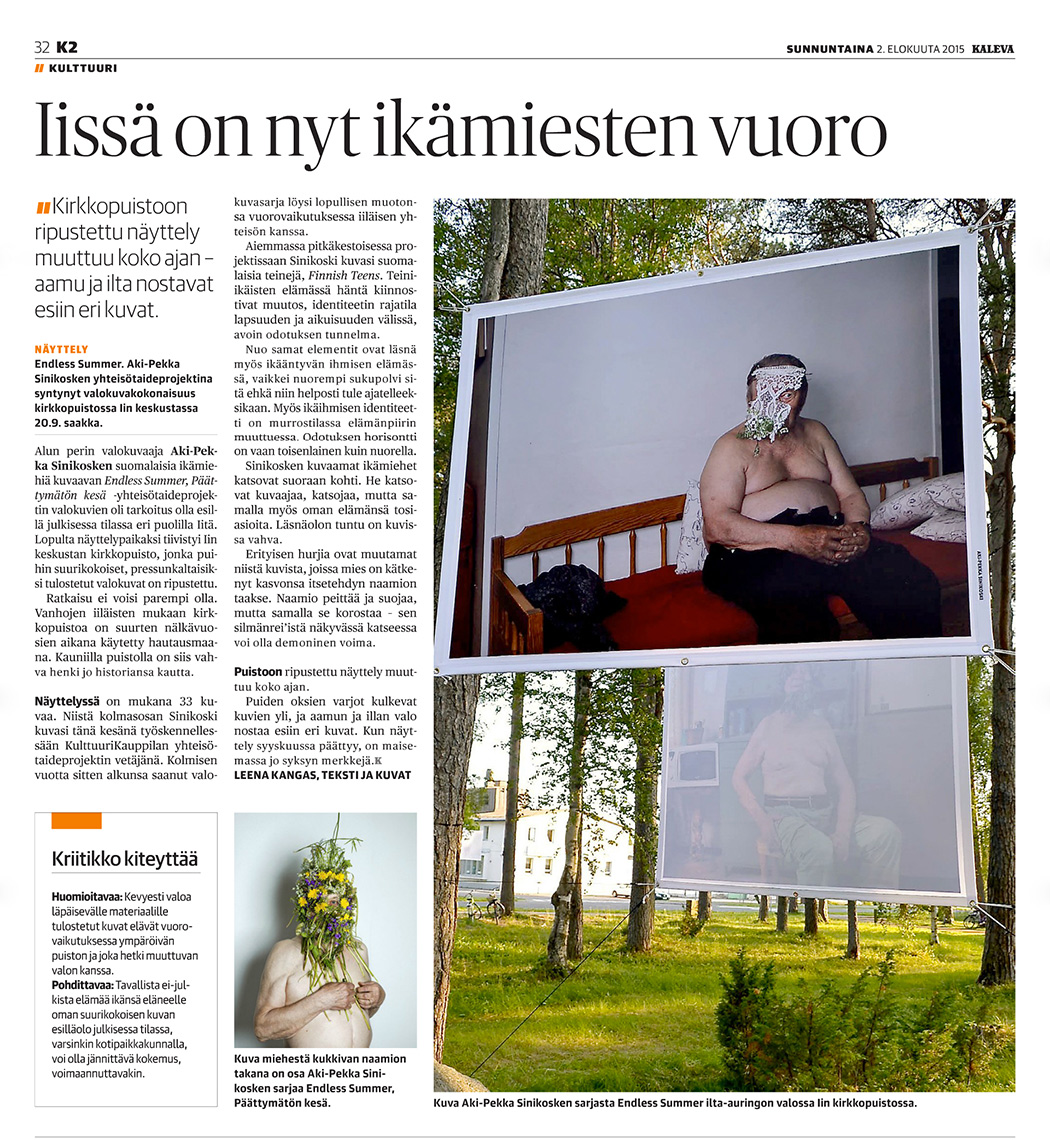 Aki-Pekka Sinikoski: Endless Summer – Outdoor Exhibition in Ii // Kaleva // KulttuuriKauppila Art Centre in Ii